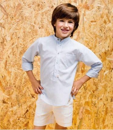PILAR BATANERO BOYS WHITE BERMUDAS
