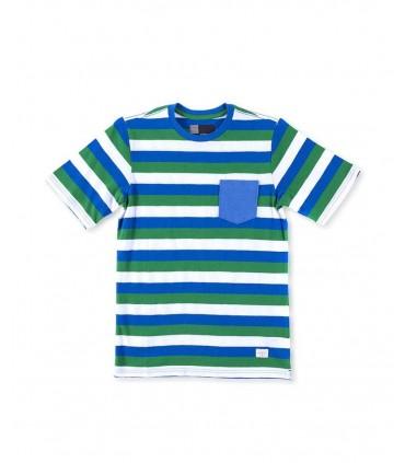 Camiseta niño rayas azules y verdes O'Neill