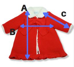 abrigo rojo borrego