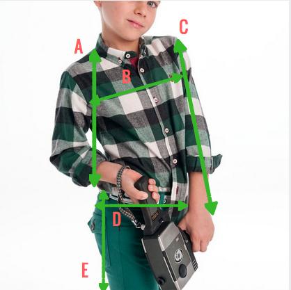 conjunto verde cocote camisa cuadros