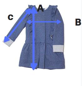 Vestido Volantes azul