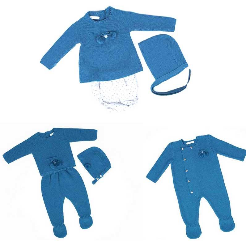 ropa bebe azul petroleo