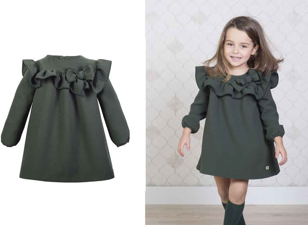 vestido verde canesu eve children