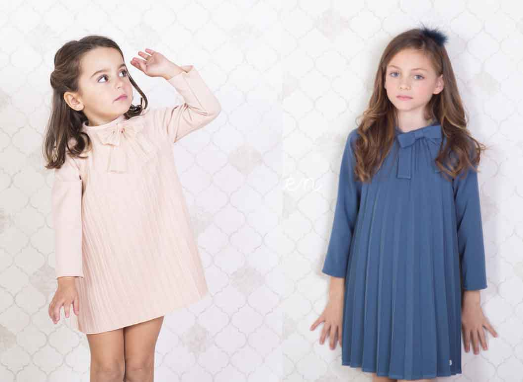 vestidos plisados eve children